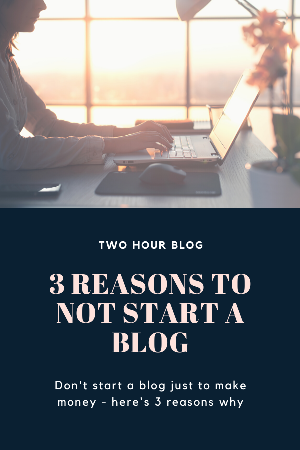 3 Reasons to Not Start a Blog