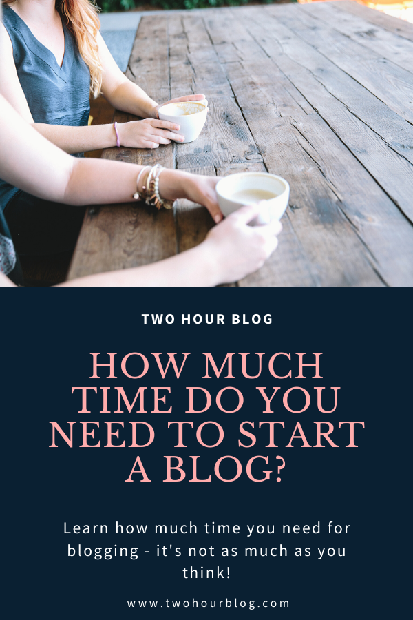 How much time do I need to start a blog? Learn how much time you need to get started blogging - it's not as much as you think!